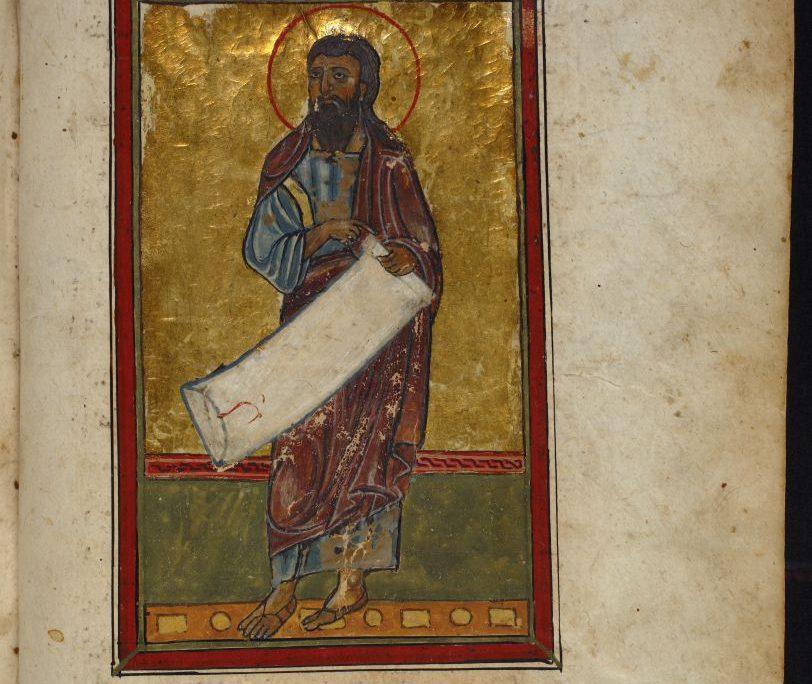 Mann mit Heiligenschein