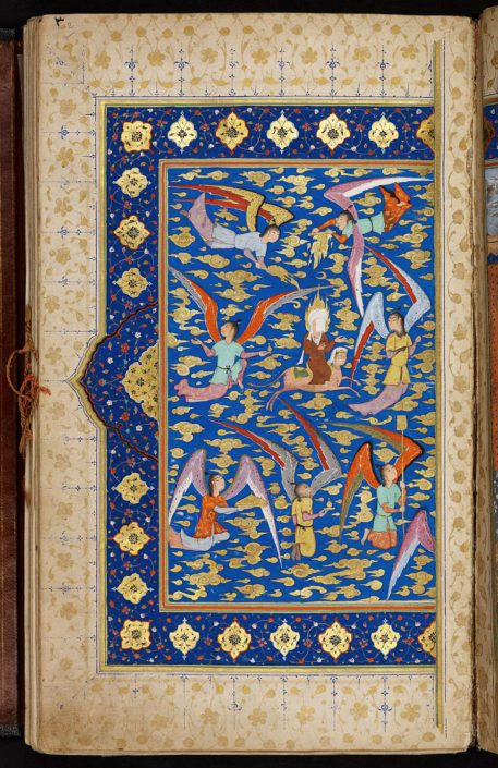Miniatur Himmelfahrt des Propheten Muhammad