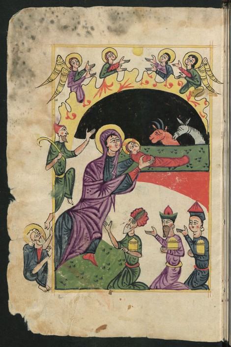 Miniatur Geburt Christi