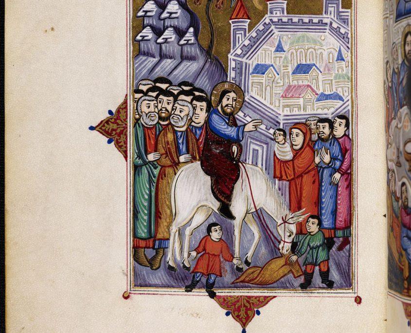 Miniatur Einzug Jesus nach Jerusalem
