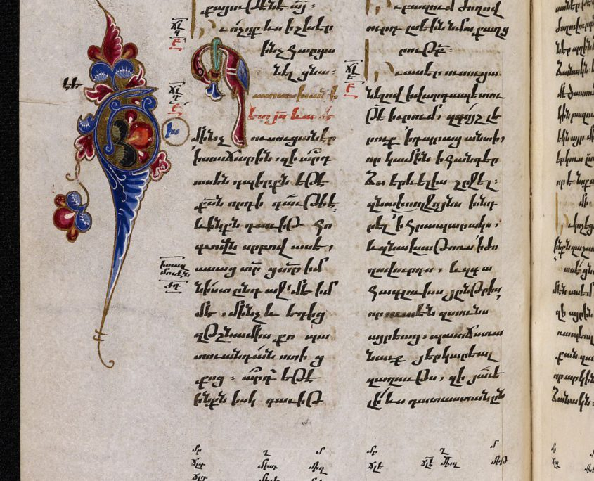S. 278 mit zweispaltigem Text in armenischer Schrift und mit Buchschmuck