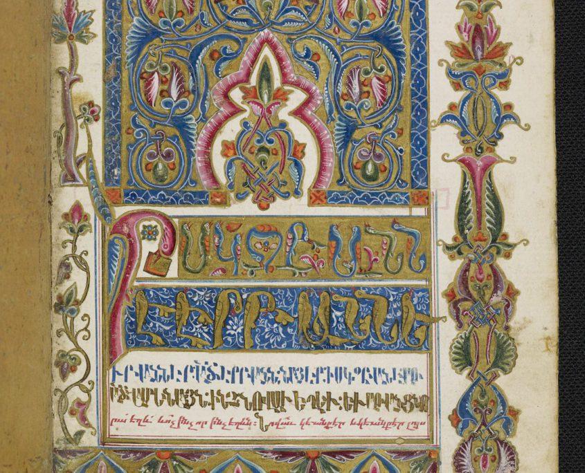 fol. 190r der Handschrift mit Buchschmuck