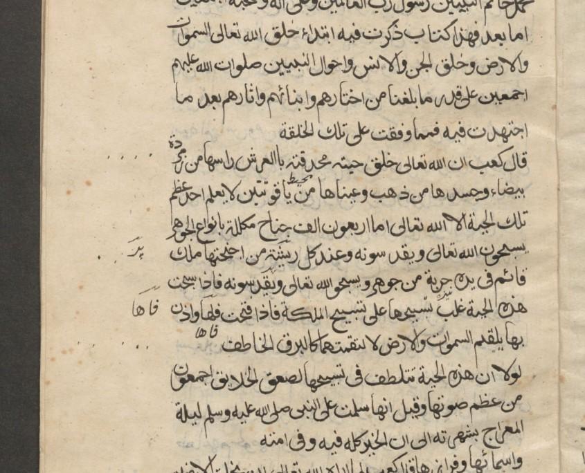 Textseite in arabischer Schrift